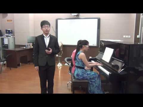 The vocal performance of a Chinese A level music student