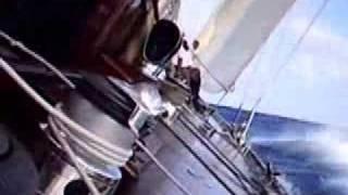 J Class Yacht in big seas