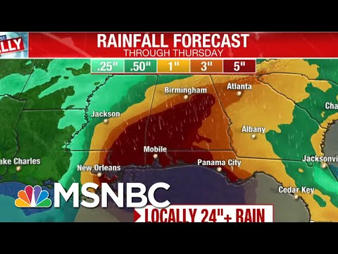 Sally Upgraded To Hurricane In 'Most Active' Storm Season Since 2005 | Andrea Mitchell | MSNBC