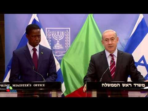 President of Zambia Edgar Chagwa Lungu meets PM Netanyahu in Israel