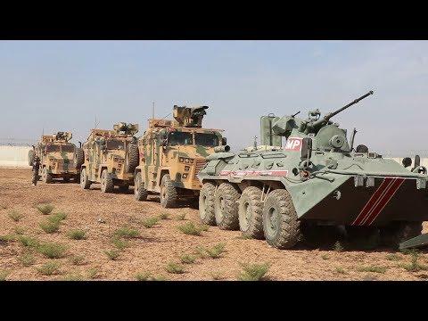 Россия и Турция начали совместное патрулирование границы в Сирии