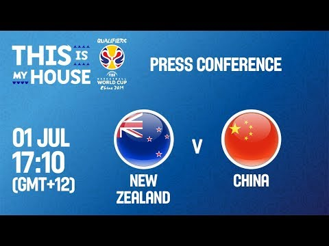 New Zealand v China - Press Conference - FIBA Basketball World Cup 2019