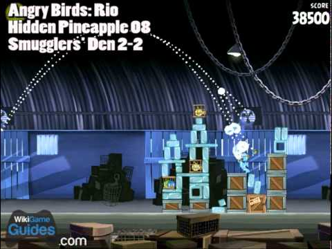 Angry Birds Rio - All 15 Hidden Golden Pineapples