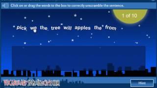 Sentence Unscramble - VocabularySpellingCity Games