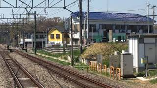 西武6000系6152F有楽町線直通各停新木場行き秋津駅到着