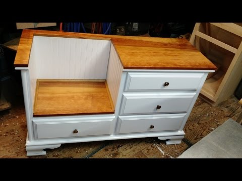 Diy How To Convert Dresser To A Bench Thingy Youtube