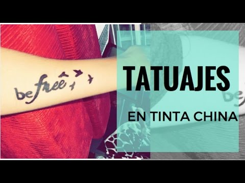 Tatuajes Temporales En Tinta China Michelle Macia Youtube