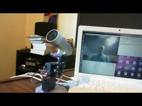faceBot OpenCV face tracking