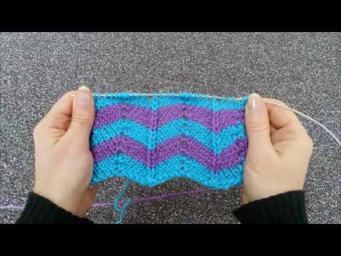 Zig Zag Pattern ( Chevron stitch ) / Knitting Patterns 17 ...