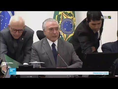 اتهام الرئيس البرازيلي ميشال تامر بتلقي رشوة قدرها نصف مليون ريال برازيلي  - نشر قبل 12 دقيقة