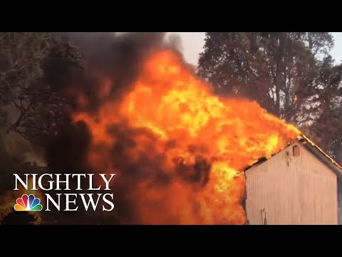 Mendocino Complex Fire Largest In California History | NBC Nightly News
