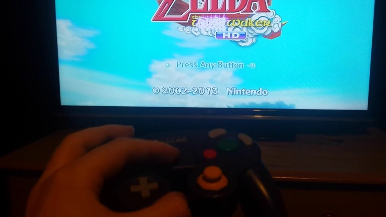 Playing WindWaker HD with a Gamecube Controller