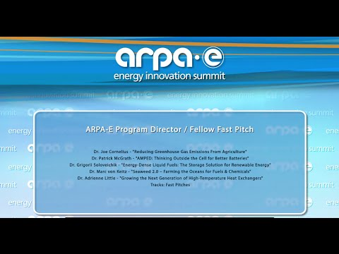 ARPA-E Program Director/Fellow Fast Pitch 4