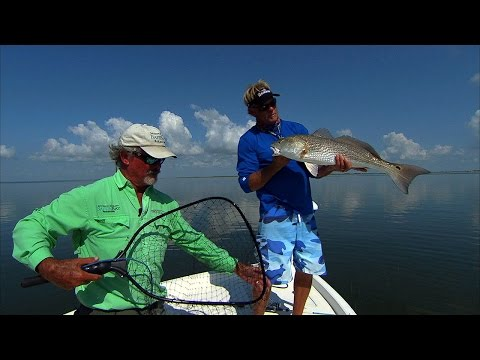 Baffin Bay Fishing South Texas Red and Sea Trout on Topwater Blowups