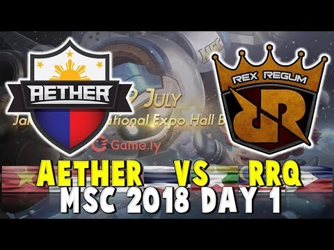 AE VS RRQ O2 – ENGLISH COMMENTARY - DAY 1 MSC 2018 - Mobile Legends