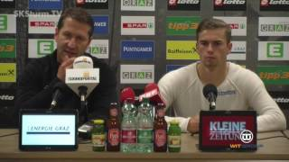 SK Sturm: Mediabriefing vor FK Austria Wien (36. Runde 2015/16)