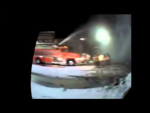 Dashcam Video Of Downtown Madelia, Minnesota Fire