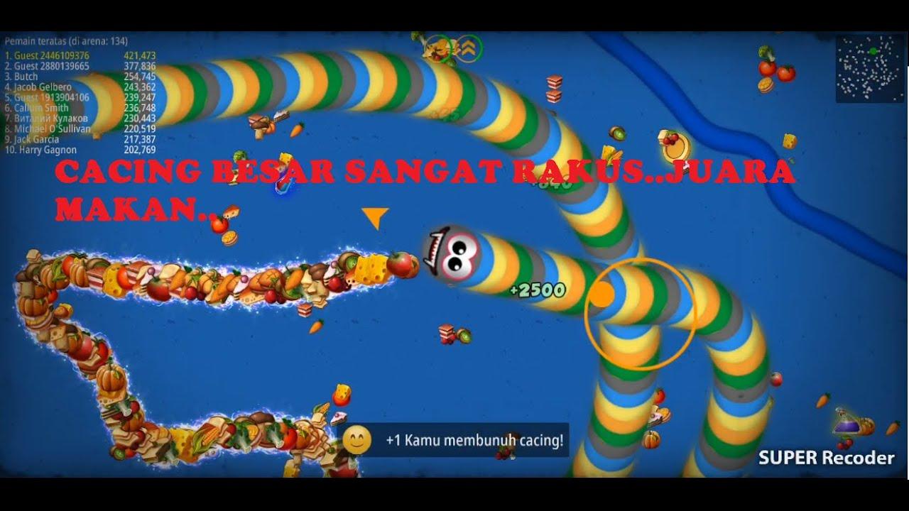 KARTUN ANAK ANAK CACING BESAR RAKUS MAKAN JUARA 1 INDONESIA