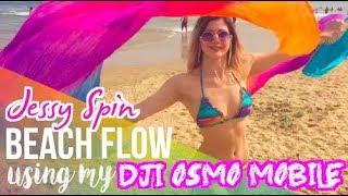 Beach Fan Dancing, Poi Spinning and Mini Hoops | Using my DJI OSMO Mobile