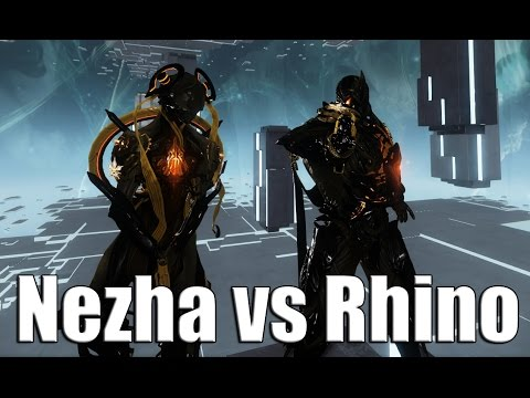Warframe Academia: Rhino vs Nezha