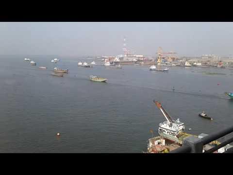 meghna river from meghna bridge (Bangladesh)