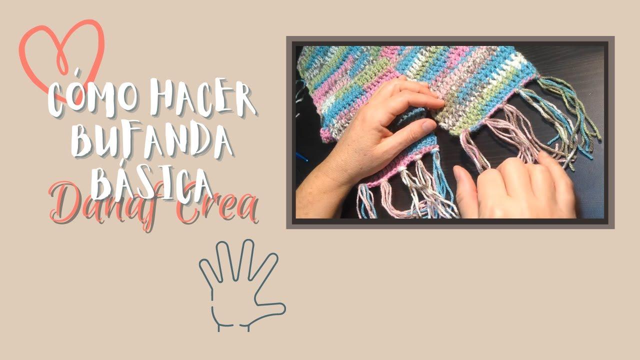 Bufanda con flecos a crochet o ganchillo para principiantes ...