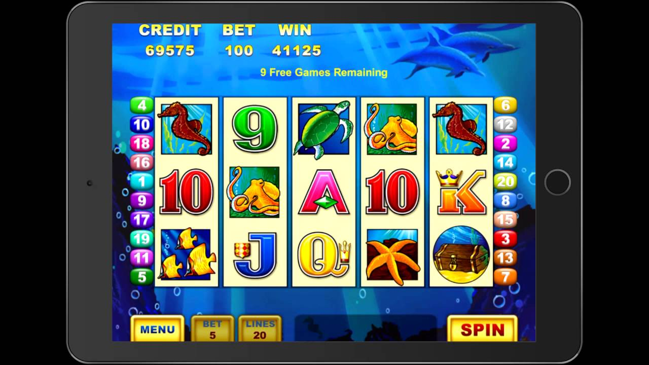 Dolphin Treasure Video Slot Game With A Retriggered Free Spin