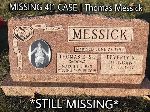 MISSING 411 CASE | THOMAS MESSICK DISAPPEARANCE (David ...