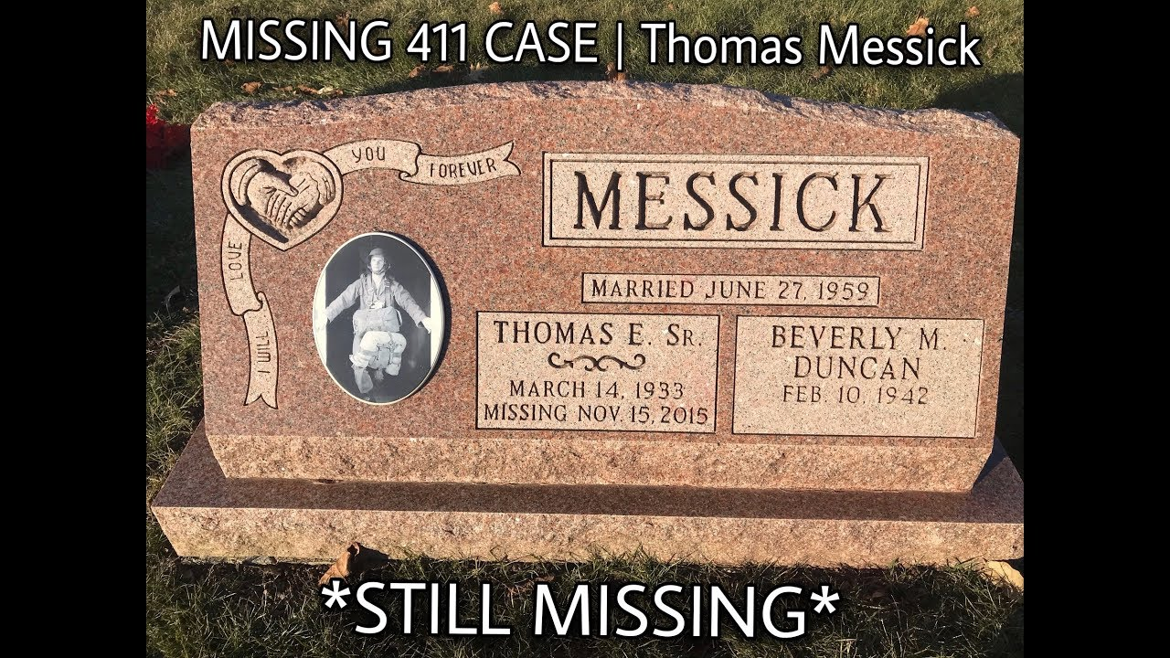 MISSING 411 CASE | THOMAS MESSICK DISAPPEARANCE (David Paulides Missing  Hunters Book)