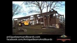 Barn Demolition Time Lapse - Antique Beams & Boards