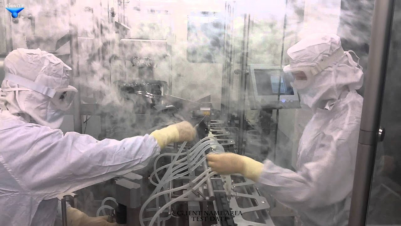 Airflow Visualization Test Cleanroom Youtube