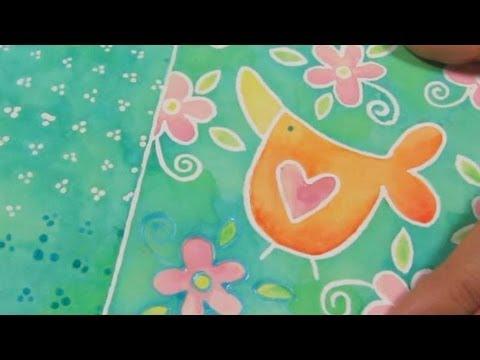 Como Hacer Tarjetas y Pintar Tarjetas *How to Watercolour* Scrapbook ideas Pintura Facil Para Ti