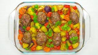Мясные котлеты запеченные с овощами в духовке. Простой рецепт от Всегда Вкусно!
