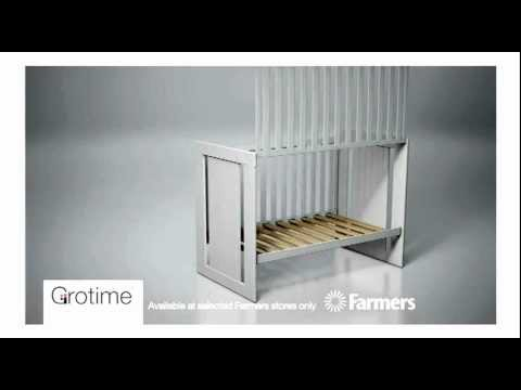 Grotime Sleepover 5 In 1 Cot   Farmers