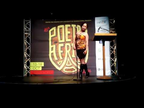 Raya Wambui at Poetry Africa 2014. (Full)