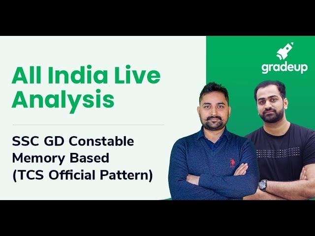 : All India Live Analysis: SSC GD Constable 2018 Memory Based Paper 2018
