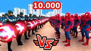 10.000 KAPTAN AMERİKA VS 10.000 ÖRÜMCEK ADAM 😱 - Süper Kahramanlar