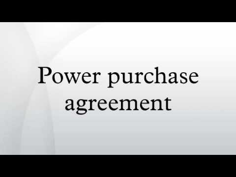 Power Purchase Agreement  Youtube
