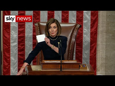 House of Representatives vote to impeach Trump