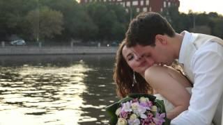 Великолепная свадебная прогулка на теплоходе . Видеосъёмка в Москве  8 915 32 99 6 88 владимир