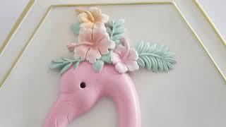 플라밍고 벽장식 여자아이방꾸미기 아기방인테리어 동물병풍…