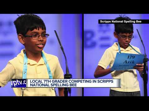 7th grade student from Bak Middle School of the Arts competing in Scripps National Spelling Bee