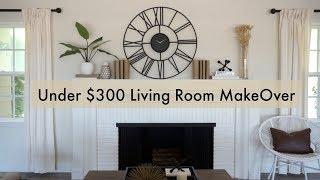 Under $300 Living Room Make Over