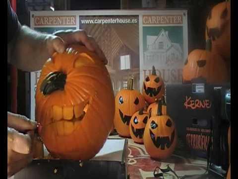Como hacer calabaza halloween youtube - Calabazas halloween originales para ninos ...