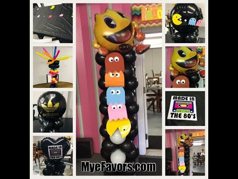 How To Make A Pac-Man Theme Balloon Column With Ghosts -Pacman Theme Party Ideas
