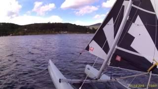 Catamaran dart 16 lac du Laouzas -  juillet 2016