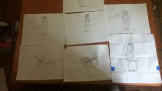 My other drawings of family guy (peter,meg,chris,stewie and lois)