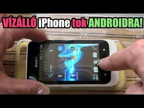 Sony Xperia tipo vízálló iPhone tok teszt