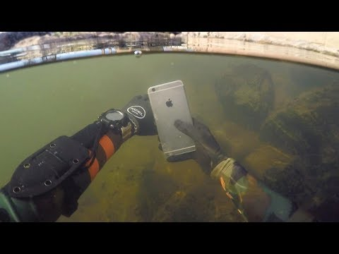 Found Lost iPhone 6 Underwater in River While Scuba Diving! (Does it Work?)