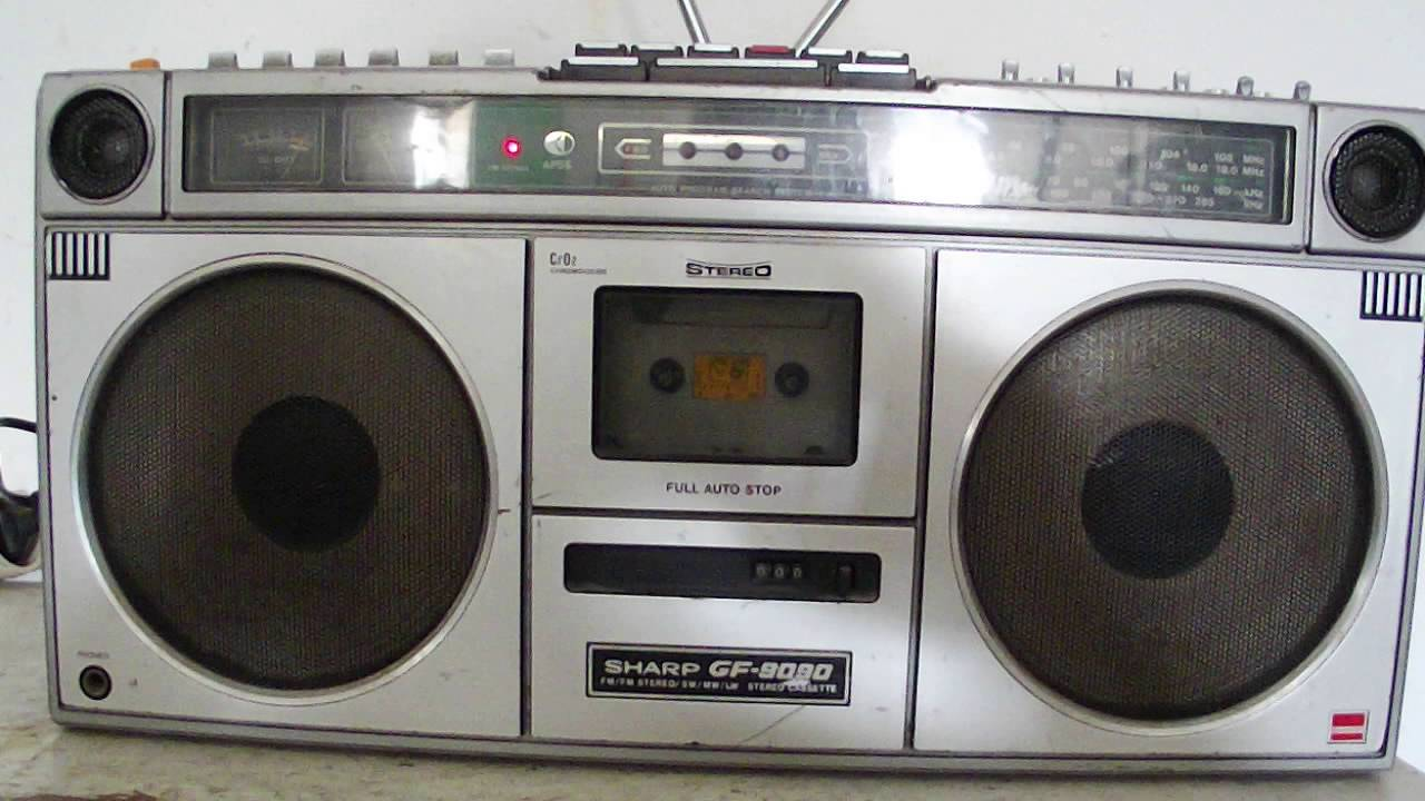 sharp gf 9090 boombox ghettoblaster stereo radio cassette vintage fm youtube. Black Bedroom Furniture Sets. Home Design Ideas